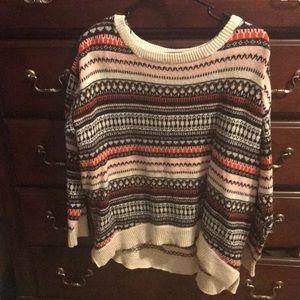 Hi-lo oversized sweater
